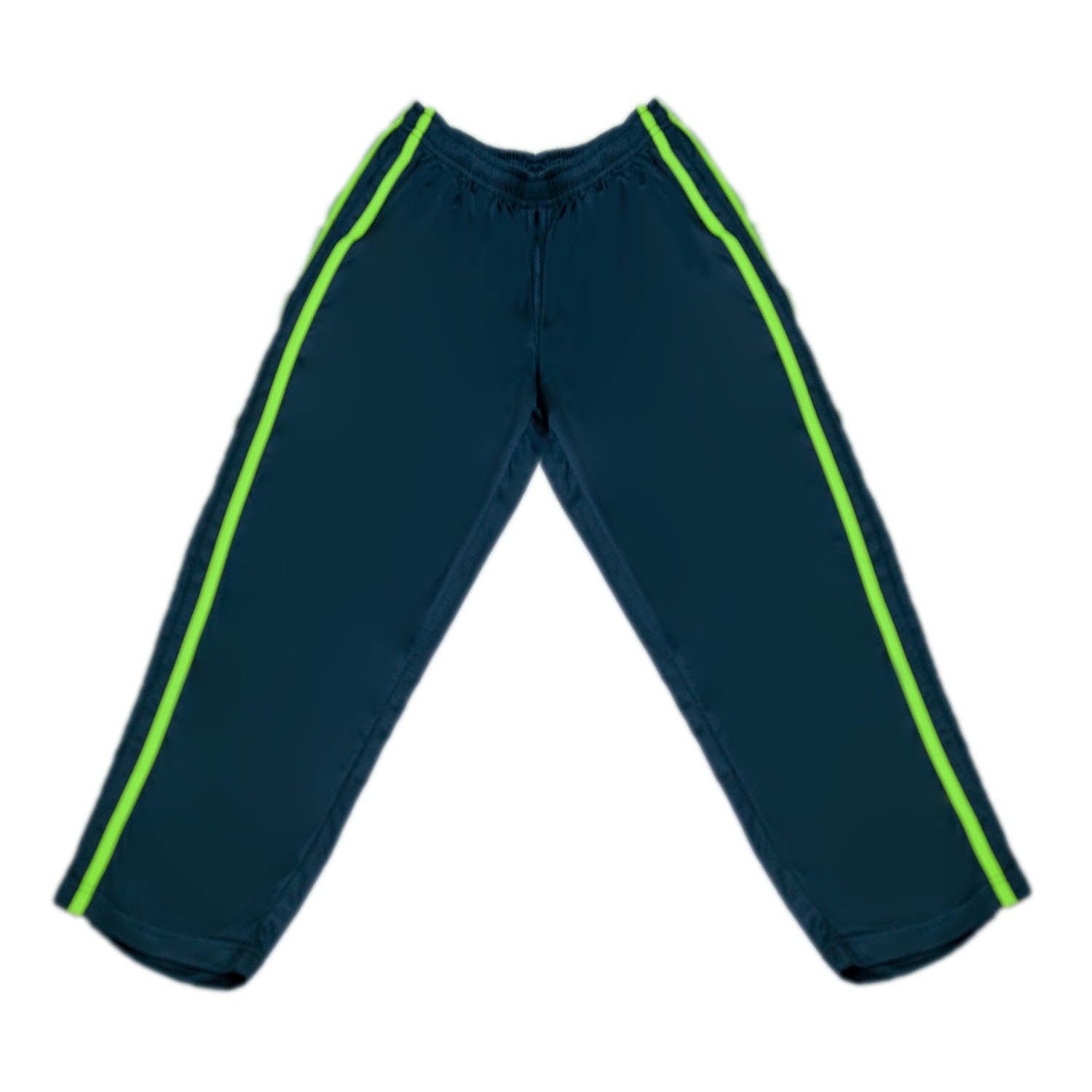 Boys Pe Navy Blue Trouser W/ Green Stripe