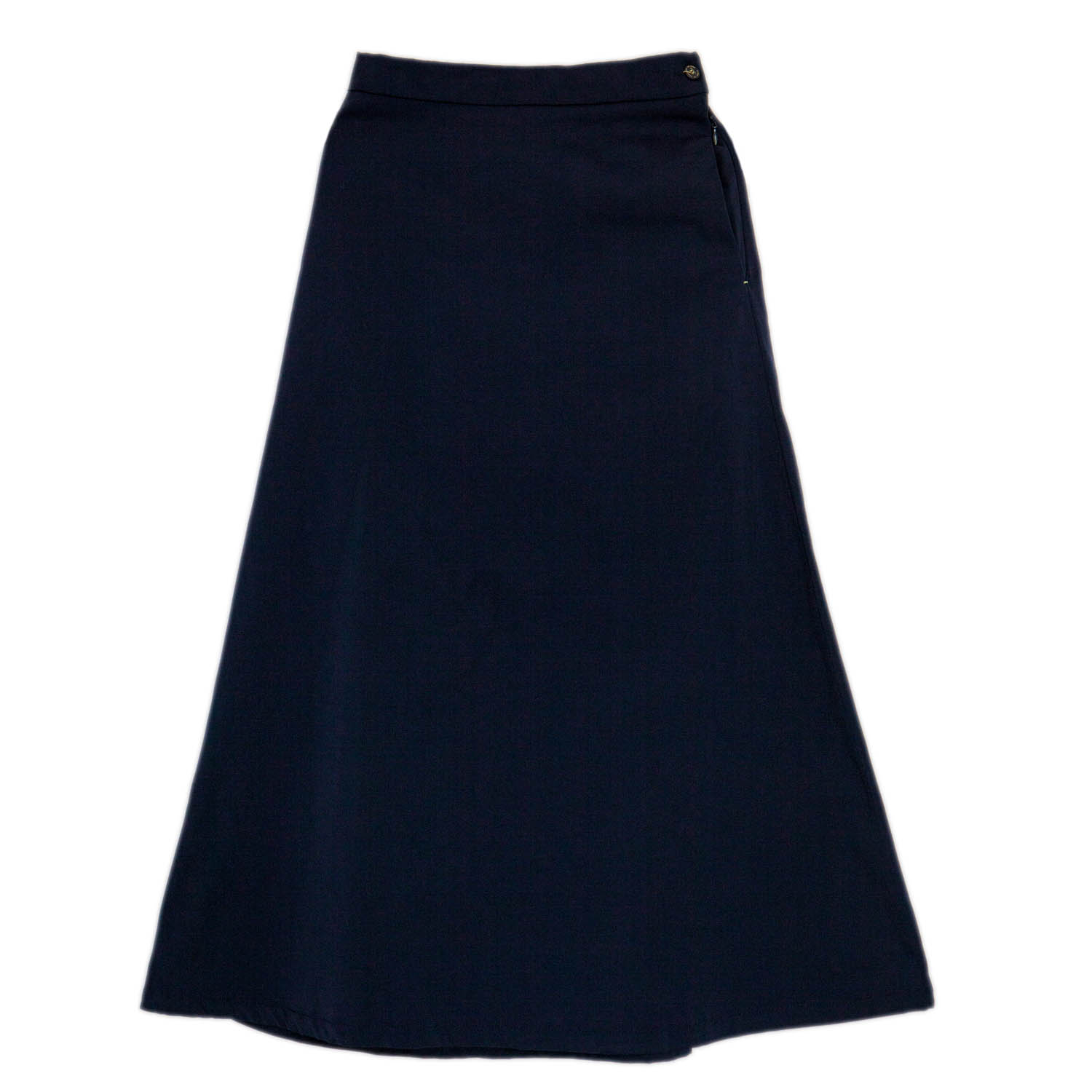 Girls Navy Blue Long Skirt (Normal Design)