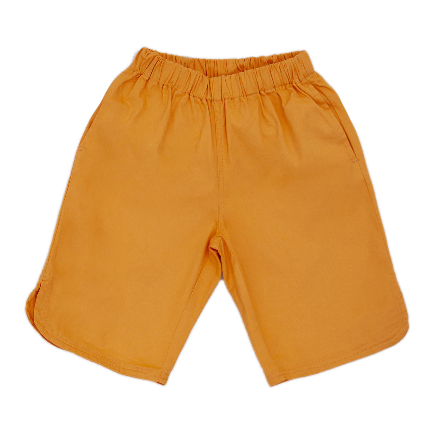 Girls Pe Lycra Orange Bermuda Short