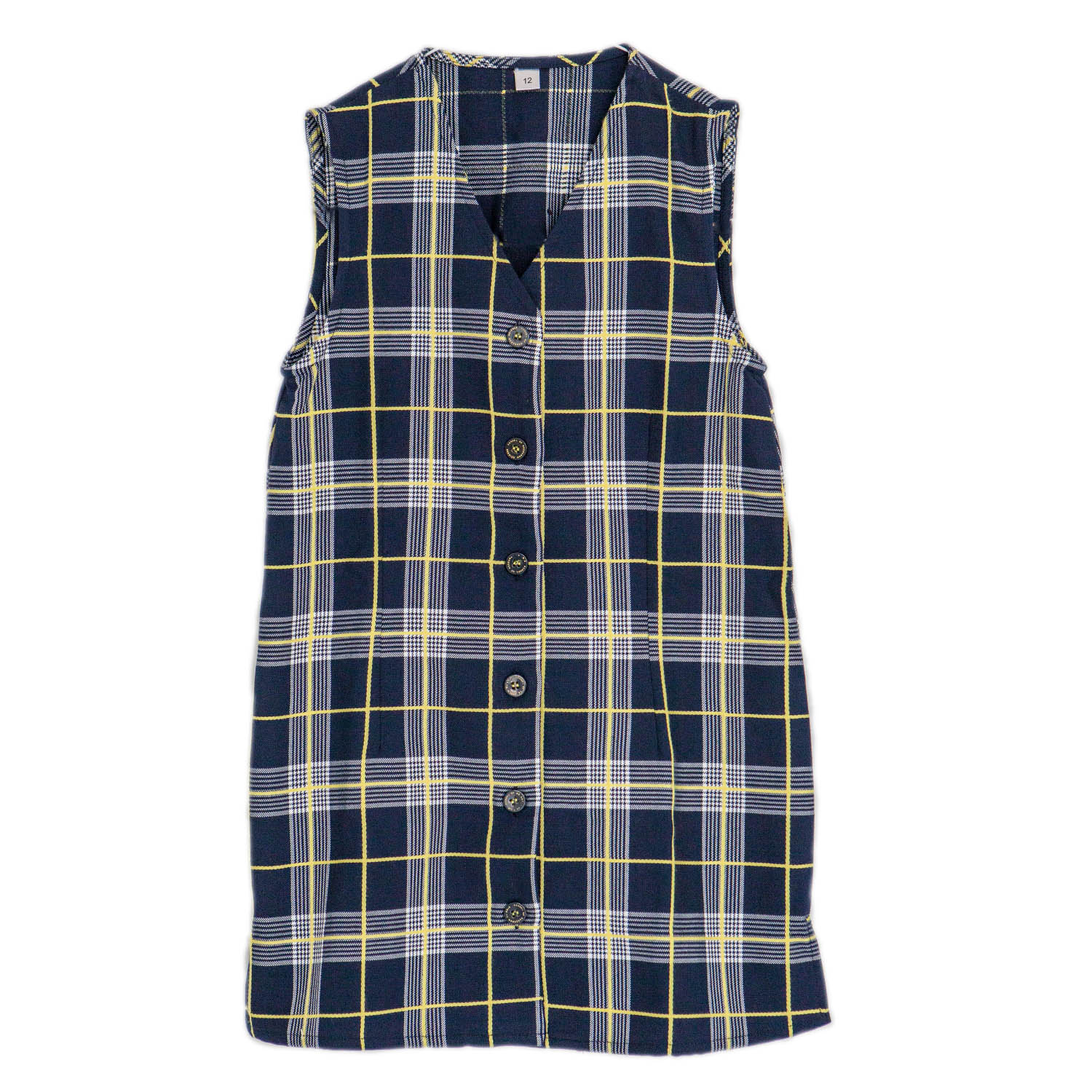Girls Tartan Long Vest