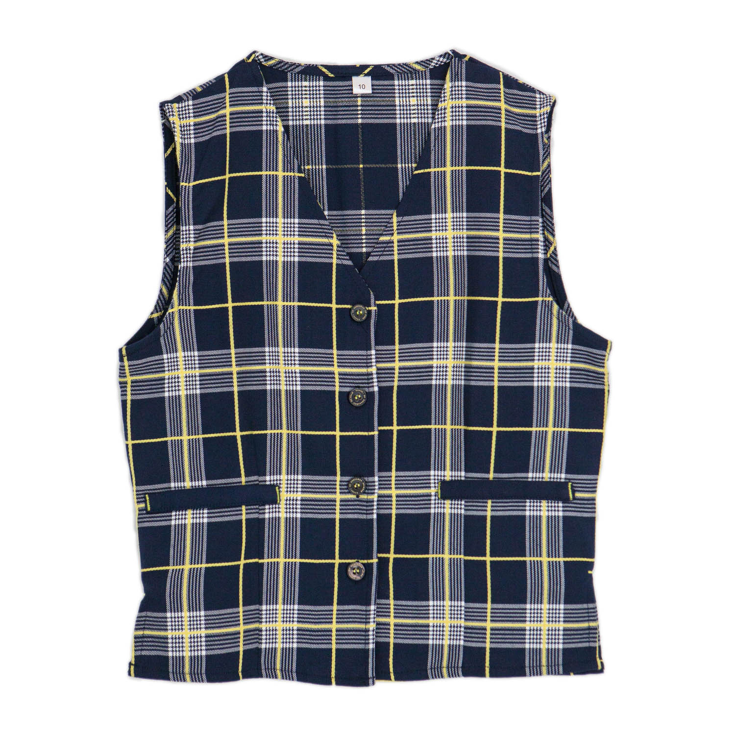 Girls Tartan Short Vest