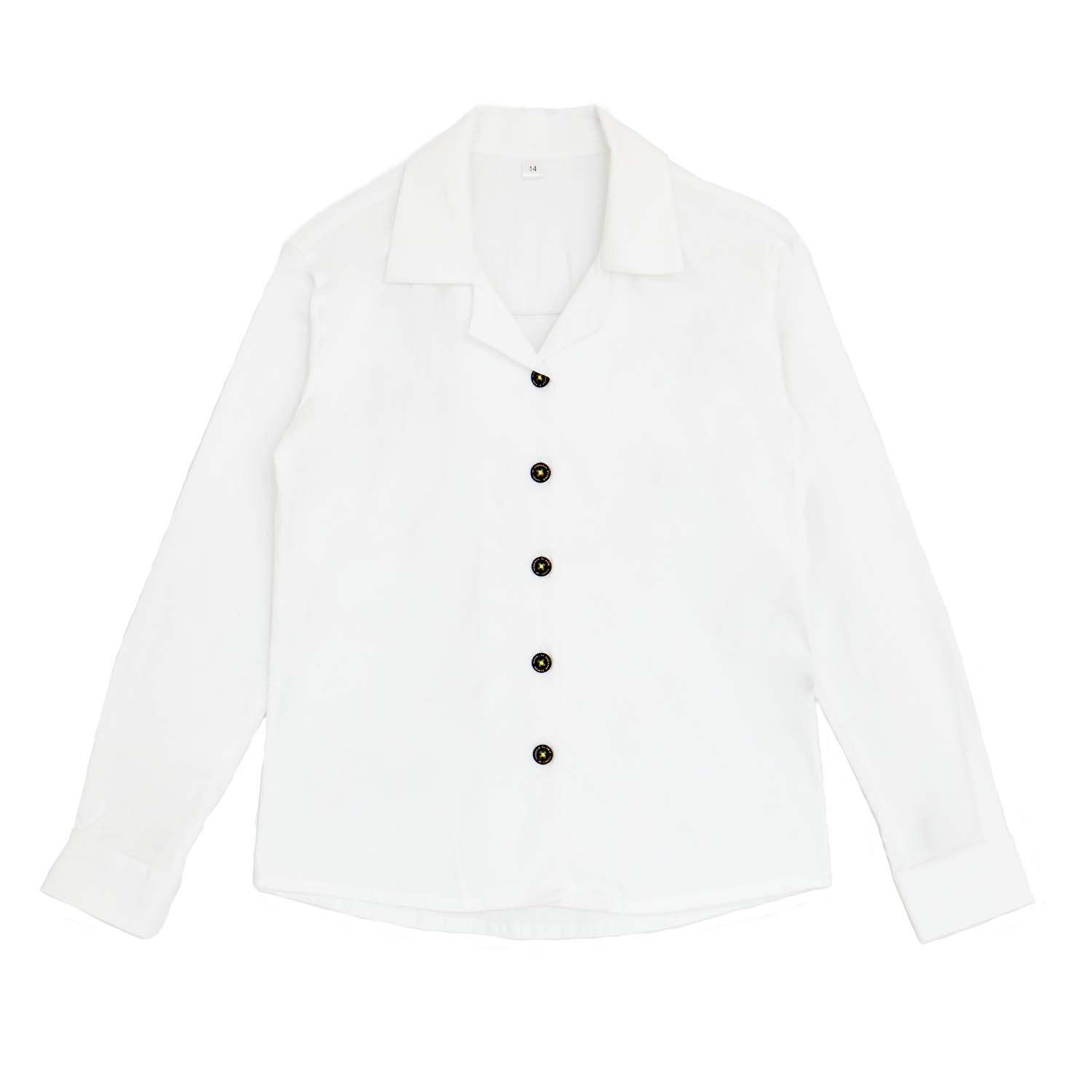 Girls White Blouse Long Sleeve