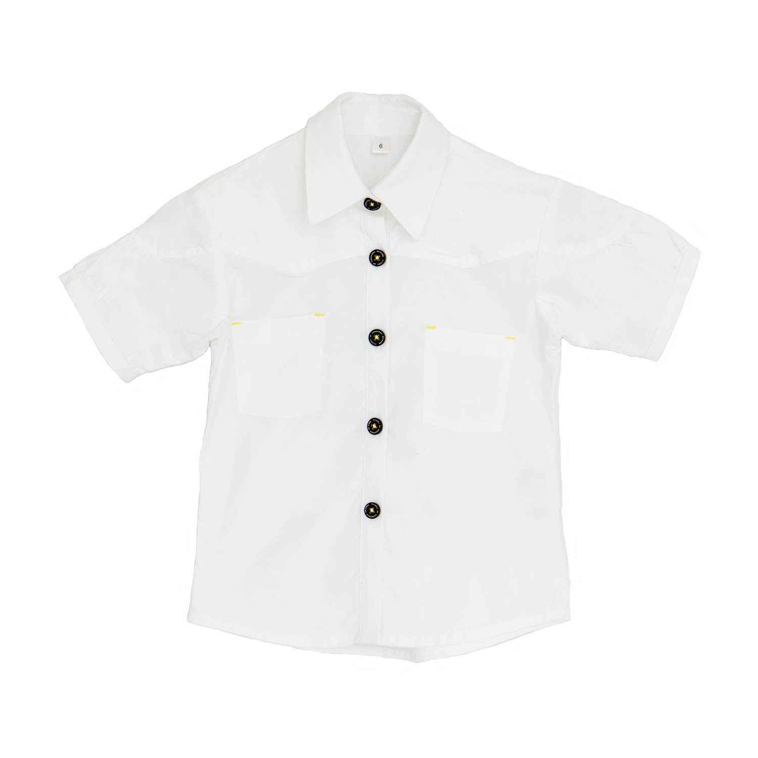 Girls White Blouse Short Sleeve