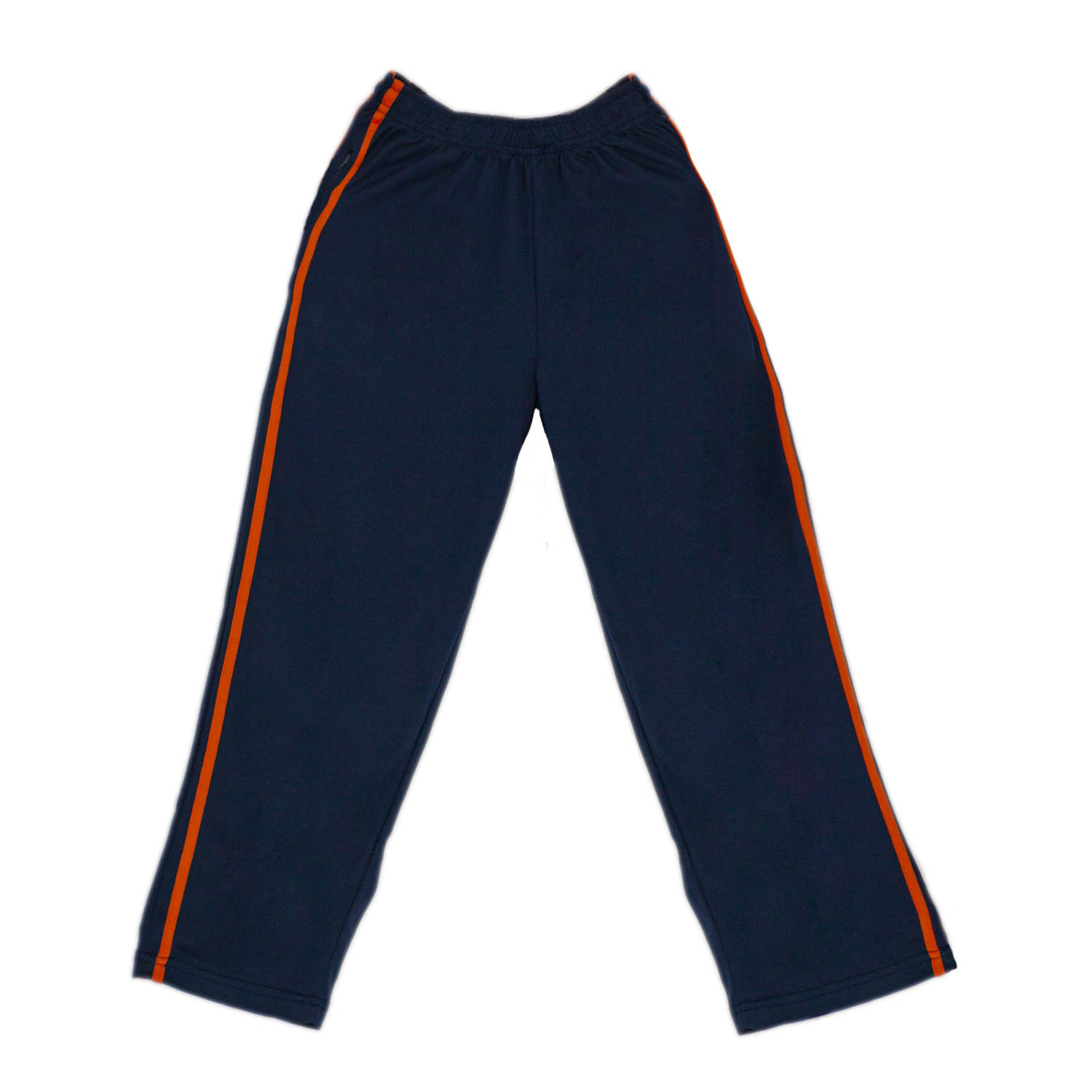 STRIPE Girls Pe Navy Blue Trouser With Orange Stripe